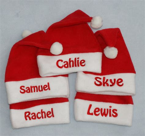 personalised baby toddler fleece santa hat add any name