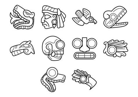 Aztec Calendar Symbols Aztec Symbol Vector Free Vector Stock