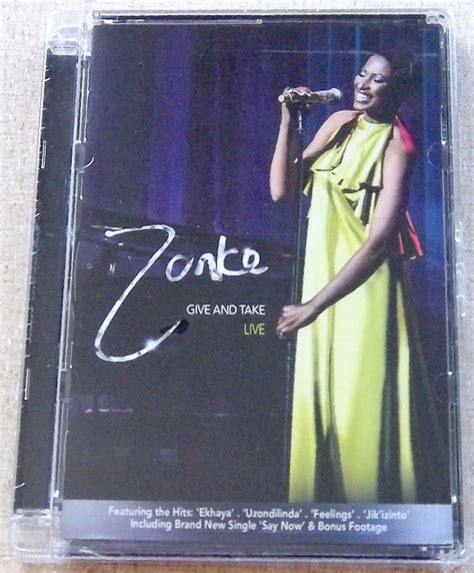 zonke say now zonke give and take live south africa dvd cat dvstep144