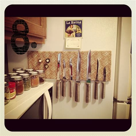 Magnetic Strips For Kitchen Knives Fancy Knives Need A Fancy Knife Rack Diy Cee Cee And The Bea