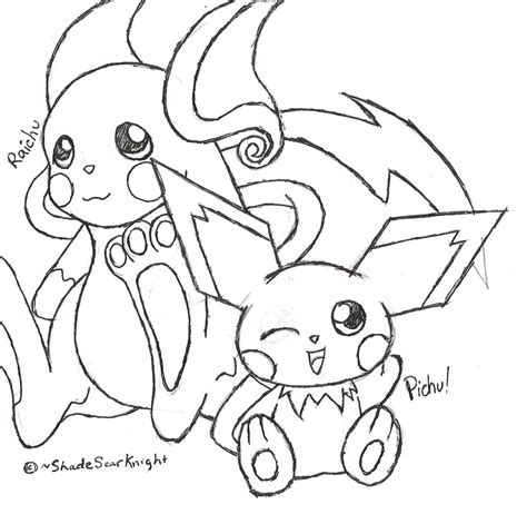 pokemon coloring pages raichu raichu coloring page of pokemon