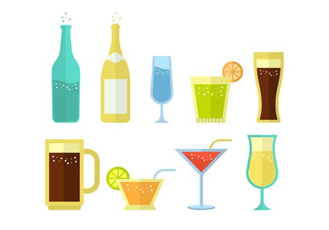 drink vector free soda and alcoholic drink vector collection