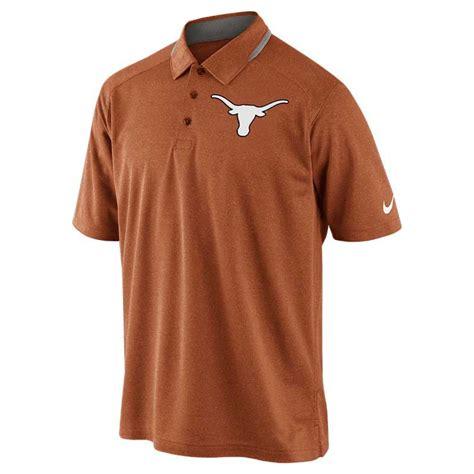Nike Longhorns Mens Orange Elite Sleeve Polo 1 nike mens longhorns players drifit polo in orange for lyst