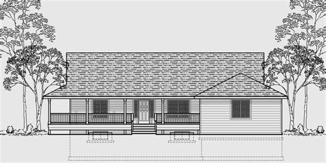 one level house plans with porch ranch house plans american house design ranch style home