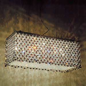 contemporary rectangular chandeliers 1 329 00 27 quot rainbow modern rectangular