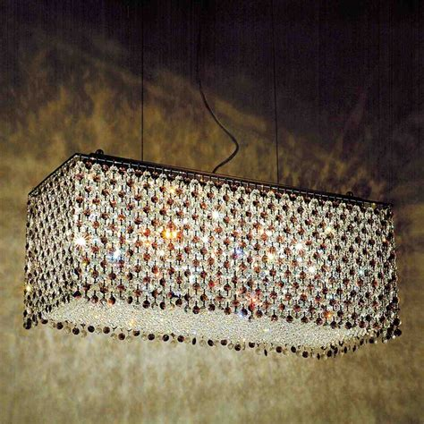 Modern Rectangular Chandelier 1 329 00 27 Quot Rainbow Modern Rectangular Chandelier Polished Chrome 18 Lights Clear