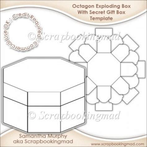 exploding box card template exploding box with secret gift box template cu ok 163 3 50