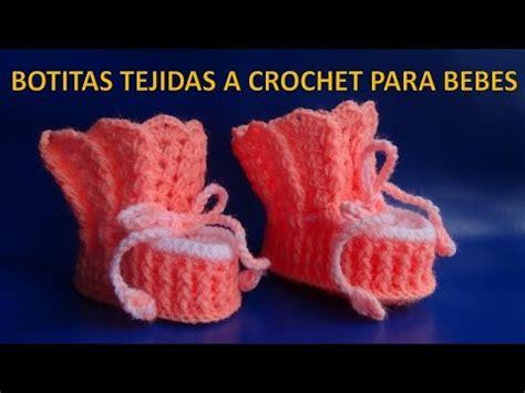 zapatos crochet paso a paso youtube botitas o zapatitos tejidos a crochet para bebe paso a