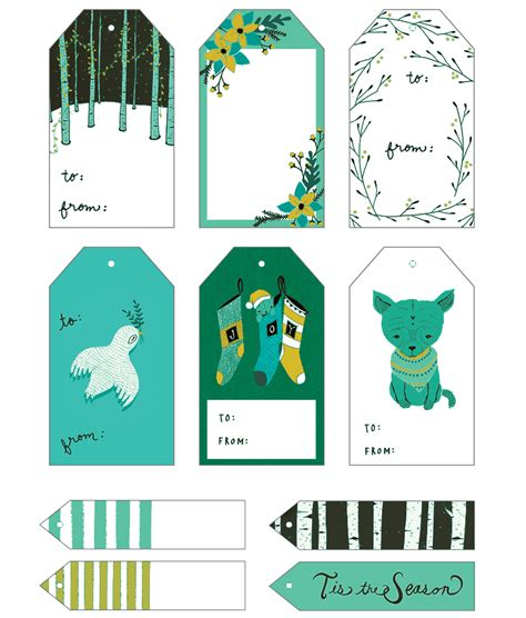 5 plus gift tag templates to create a personalized gift tag
