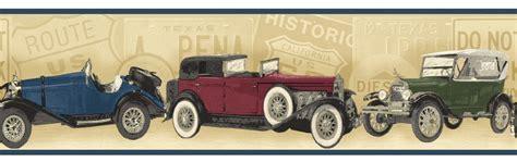 wallpaper borders classic cars classic antique cars wallpaper border pt018182b clearance