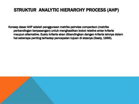 membuat kuesioner ahp presentasi analytic hierarchy process ahp