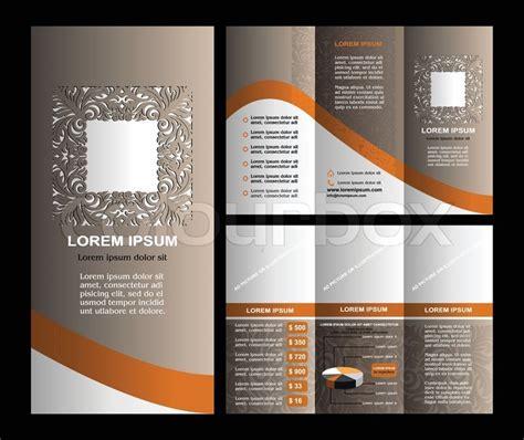 brochure template vintage vintage style brosch 252 re template design mit moderner kunst