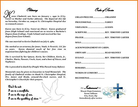 free obituary templates for microsoft word free obituary template for microsoft word popular