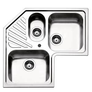 lavello angolare lavello angolare 83 x 83 x 50 cm 3 vasche in acciaio inox