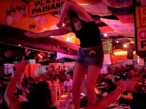 bar top dancing drunk girls dancing on the bar top at carlos charlies in