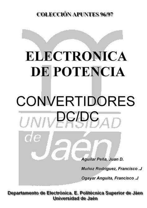 Convertidores dc-dc (Colección apuntes UJA 96/97)
