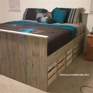 lit de palettes avec tiroirsmeuble en palette meuble en