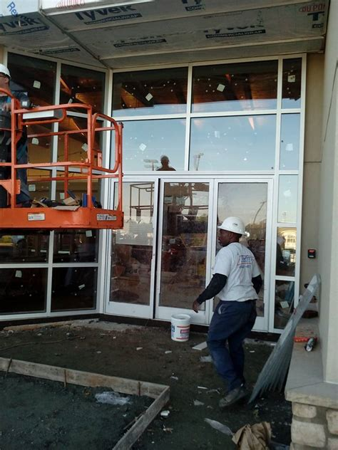 northpoint land rover storefront glass repair replacement installation