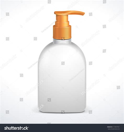 Soaps Shower Gels Clean plastic clean white bottle with yellow dispenser