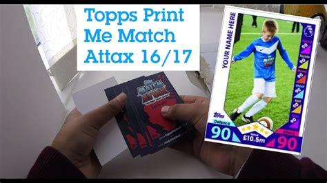 make a match attax card match attax print me make your own awesome match
