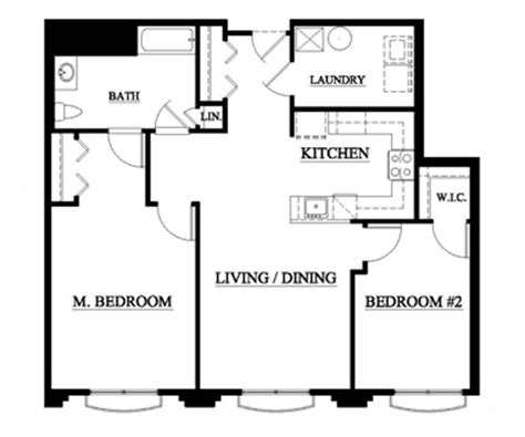 average size 2 bedroom apartment piazza associates inc