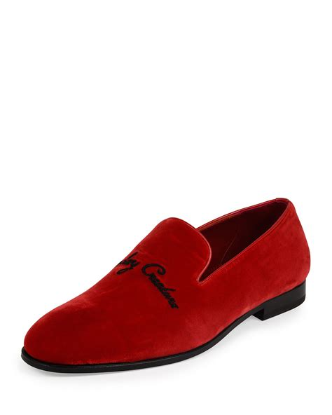 mcqueen loafers mcqueen creature velvet slip on loafer in