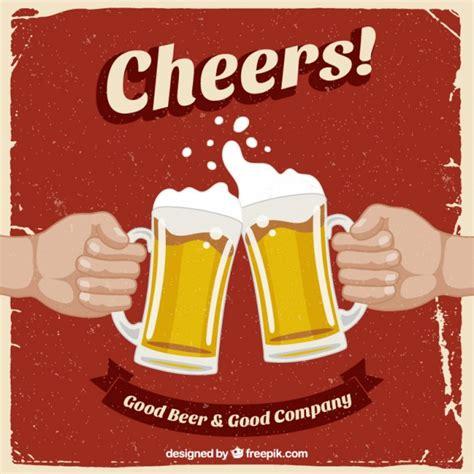 imagenes retro descargar cartel retro con cervezas descargar vectores gratis