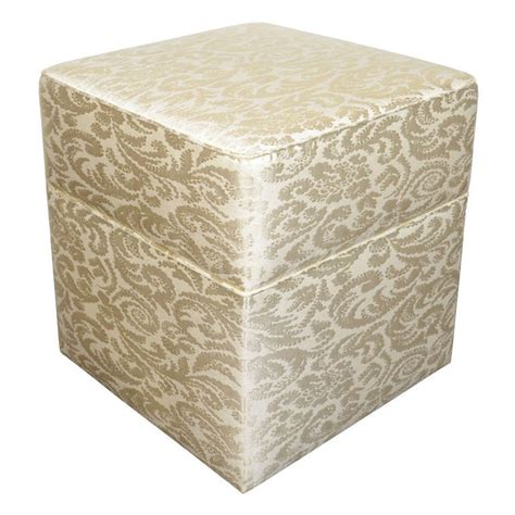 upholstered stool ottoman hollywood regency upholstered ottoman or vanity stool at