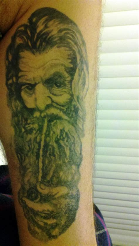 hobbit tattoo designs gandalf hobbit design ill ink