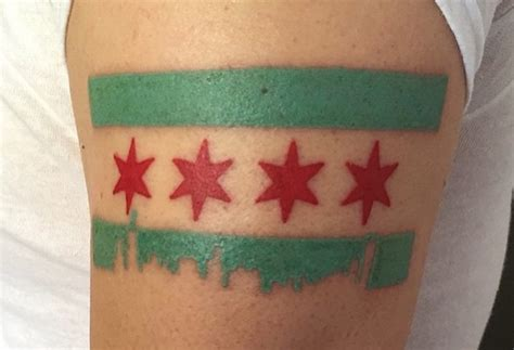 chicago flag tattoo the 5 most chicago designs