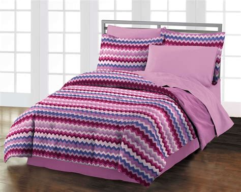 new blackberry chevron teen girls purple cotton comforter