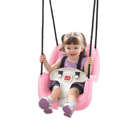 two step swing step 2 t bar toddler swing pink toys games outdoor
