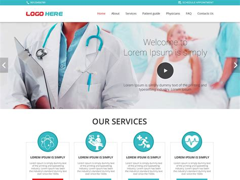 Doctor Website Template by Doctor Website Template Free Psd Design