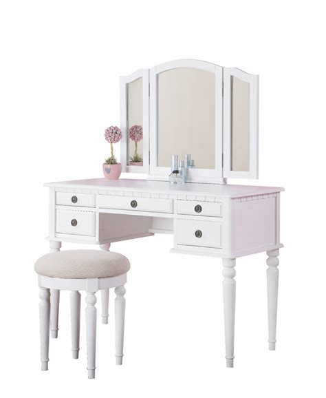 White Vanity by Cosmetic Organizer Vanity Set Mycosmeticorganizer
