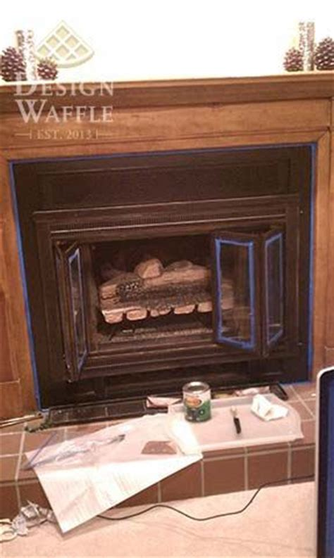 rustoleum fireplace paint fireplace after closeup how to paint your fireplace insert with high heat rustoleum paint