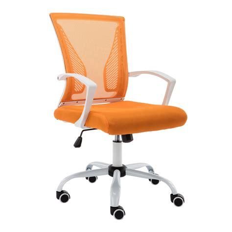 New Zuna Office Desk Chair Mid Back Mesh Task Chair Adjustable Height Desk Chair