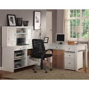 Cottage White Desk by House Boca L Shaped Desk With Credenza And Hutch