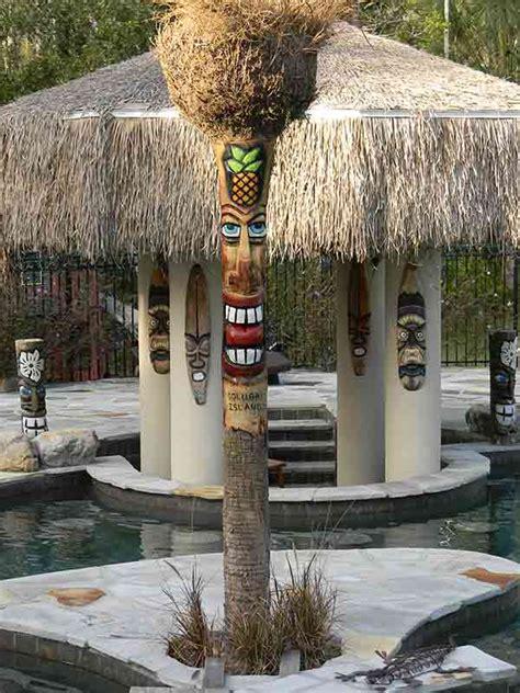 custom  palm trees tiki poles