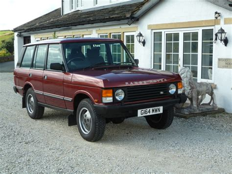 red land rover old g164 mwn time warp range rover classic land rover