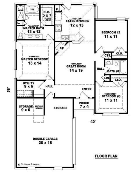 1300 square foot floor plans