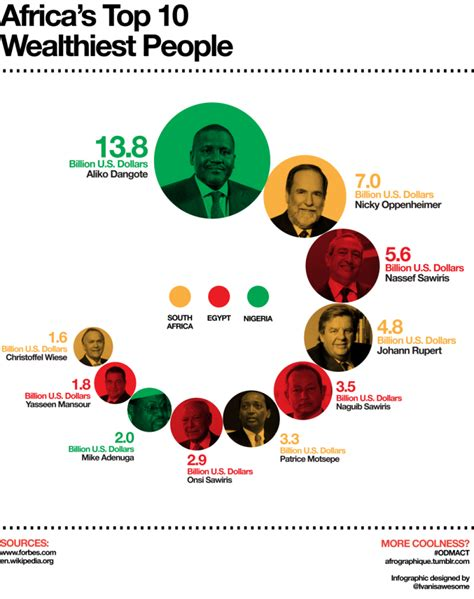 top 10 richest in africa 2016 according to forbes top 10 richest africans infographics graphs net