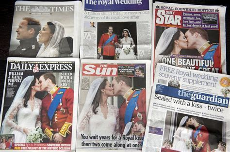 UK Newspapers Cover the Royal Wedding   Zimbio