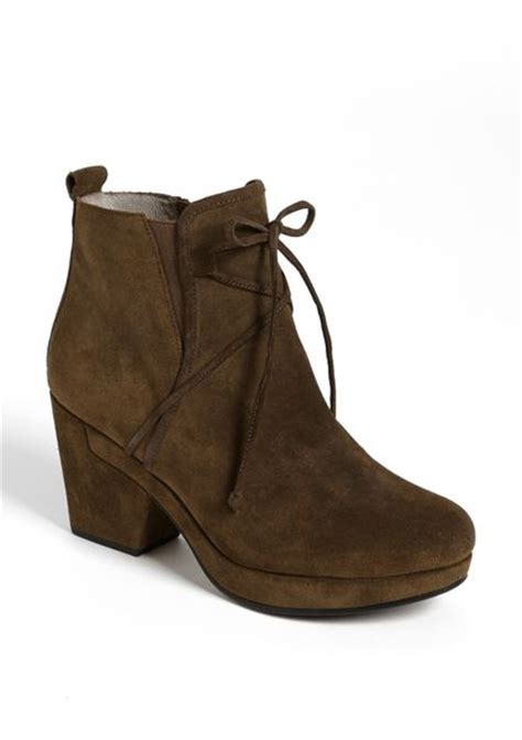 eileen fisher boots eileen fisher vim boot in brown bark suede lyst