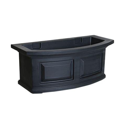 Black Plastic Window Box Planters by Veradek Window Box 9 In W X 25 In H Black Rectangular