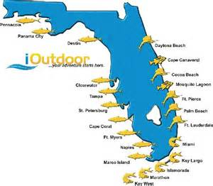fishing map of florida fishing in florida with ioutdoor adventures for fishing