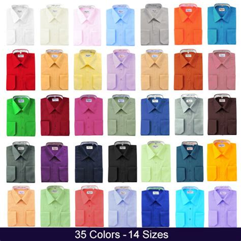 12 all colors berlioni italy mens dress shirt convertible cuff