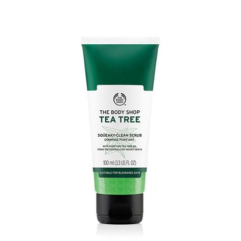 Scrub The Shop tea tree squeaky clean exfoliating scrub