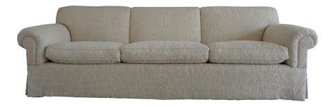 goose down sofa white wool upholstered goose down sofa chairish