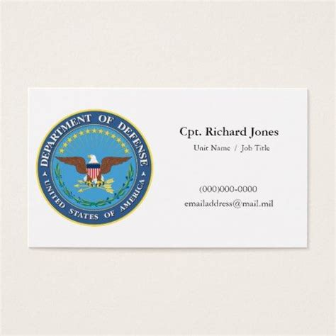 Us Army Business Card Template by Business Card Gallery Business Card Template