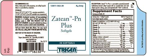 alpha s principal books zatean pn plus trigen laboratories inc fda package insert